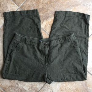 J jill cropped green light pants